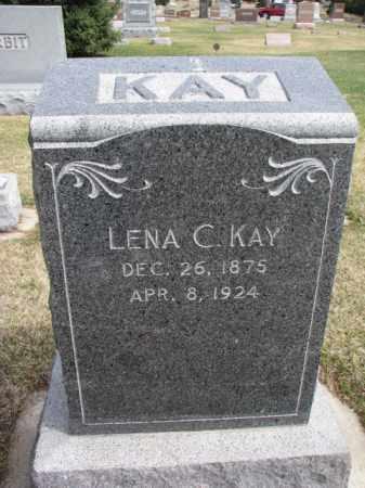 KAY, LENA C. - Wayne County, Nebraska   LENA C. KAY - Nebraska Gravestone Photos
