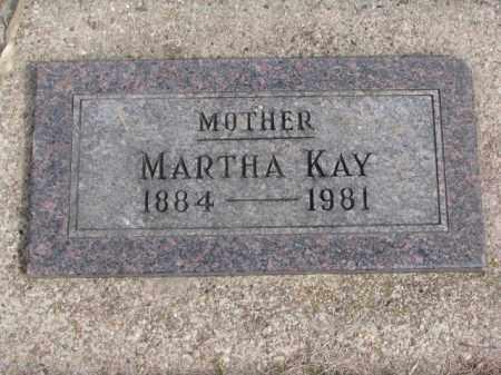 KAY, MARTHA - Wayne County, Nebraska | MARTHA KAY - Nebraska Gravestone Photos