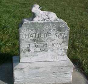KAY, MATILDE S.J. - Wayne County, Nebraska   MATILDE S.J. KAY - Nebraska Gravestone Photos