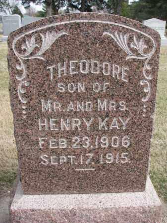 KAY, THEODORE - Wayne County, Nebraska | THEODORE KAY - Nebraska Gravestone Photos