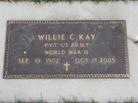 KAY, WILLIE C. - Wayne County, Nebraska | WILLIE C. KAY - Nebraska Gravestone Photos