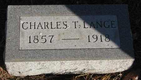 LANGE, CHARLES T. - Wayne County, Nebraska | CHARLES T. LANGE - Nebraska Gravestone Photos