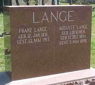 LOESCHER LANG, AUGUSTE - Wayne County, Nebraska | AUGUSTE LOESCHER LANG - Nebraska Gravestone Photos
