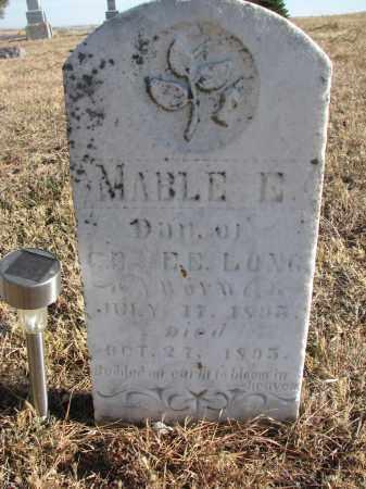 LONG, MABLE E. - Wayne County, Nebraska   MABLE E. LONG - Nebraska Gravestone Photos