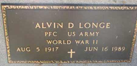 LONGE, ALVIN D. (WW II) - Wayne County, Nebraska | ALVIN D. (WW II) LONGE - Nebraska Gravestone Photos