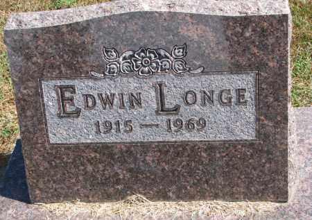 LONGE, EDWIN - Wayne County, Nebraska | EDWIN LONGE - Nebraska Gravestone Photos