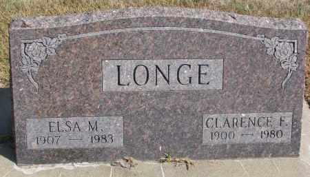 LONGE, ELSA M. - Wayne County, Nebraska   ELSA M. LONGE - Nebraska Gravestone Photos