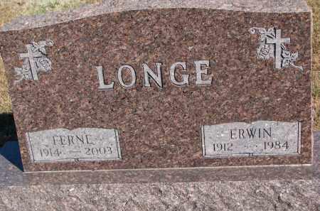 LONGE, ERWIN - Wayne County, Nebraska | ERWIN LONGE - Nebraska Gravestone Photos