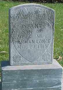 LONGE, INFANT - Wayne County, Nebraska | INFANT LONGE - Nebraska Gravestone Photos