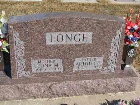 LONGE, ARTHUR F. - Wayne County, Nebraska | ARTHUR F. LONGE - Nebraska Gravestone Photos