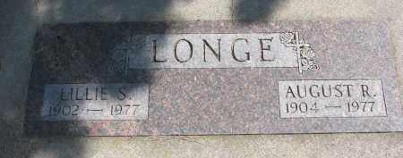 LONGE, AUGUST R. - Wayne County, Nebraska   AUGUST R. LONGE - Nebraska Gravestone Photos