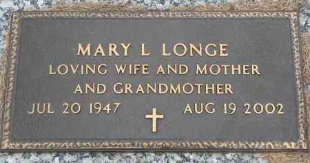LONGE, MARY L. - Wayne County, Nebraska | MARY L. LONGE - Nebraska Gravestone Photos