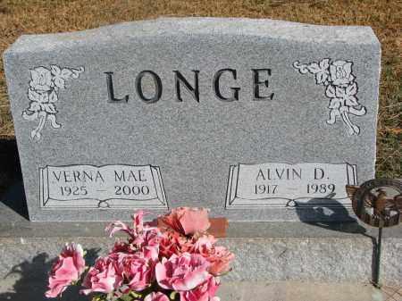 LONGE, ALVIN D. - Wayne County, Nebraska   ALVIN D. LONGE - Nebraska Gravestone Photos