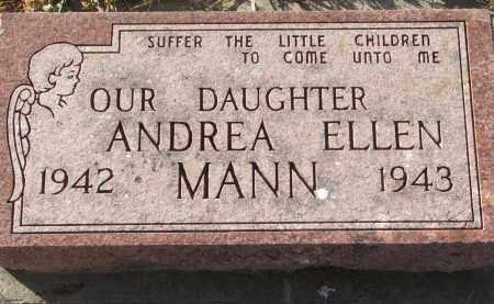MANN, ANDREA ELLEN - Wayne County, Nebraska | ANDREA ELLEN MANN - Nebraska Gravestone Photos