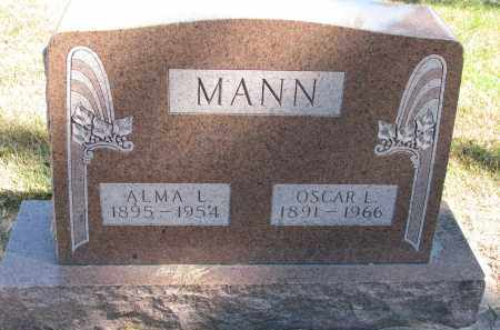 MANN, OSCAR L. - Wayne County, Nebraska | OSCAR L. MANN - Nebraska Gravestone Photos