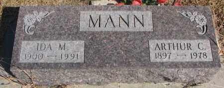 MANN, IDA M. - Wayne County, Nebraska | IDA M. MANN - Nebraska Gravestone Photos