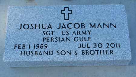 MANN, JOSHUA JACOB - Wayne County, Nebraska   JOSHUA JACOB MANN - Nebraska Gravestone Photos