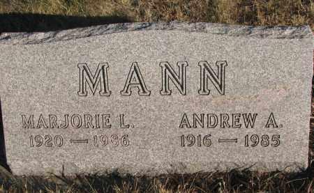 MANN, MARJORIE LOU - Wayne County, Nebraska   MARJORIE LOU MANN - Nebraska Gravestone Photos
