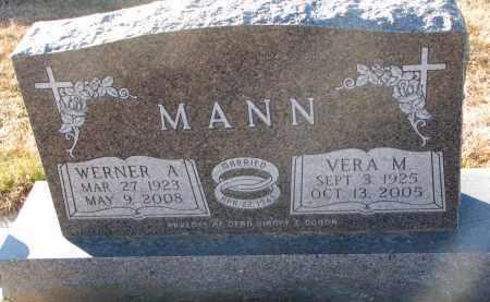 MANN, WERNER A. - Wayne County, Nebraska   WERNER A. MANN - Nebraska Gravestone Photos