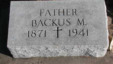 MCINTYRE, BACKUS M. - Wayne County, Nebraska | BACKUS M. MCINTYRE - Nebraska Gravestone Photos