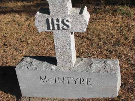 MCINTYRE, FAMILY STONE - Wayne County, Nebraska | FAMILY STONE MCINTYRE - Nebraska Gravestone Photos