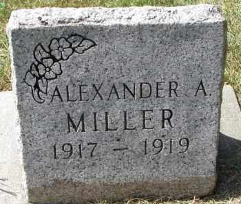 MILLER, ALEXANDER A. - Wayne County, Nebraska   ALEXANDER A. MILLER - Nebraska Gravestone Photos