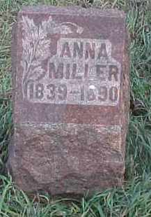 MILLER, ANNA - Wayne County, Nebraska | ANNA MILLER - Nebraska Gravestone Photos