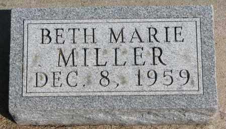 MILLER, BETH MARIE - Wayne County, Nebraska   BETH MARIE MILLER - Nebraska Gravestone Photos