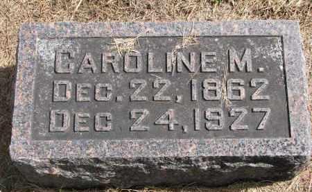MILLER, CAROLINE M. - Wayne County, Nebraska | CAROLINE M. MILLER - Nebraska Gravestone Photos