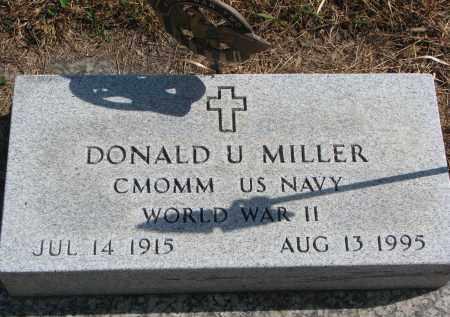MILLER, DONALD U. (WW II) - Wayne County, Nebraska | DONALD U. (WW II) MILLER - Nebraska Gravestone Photos