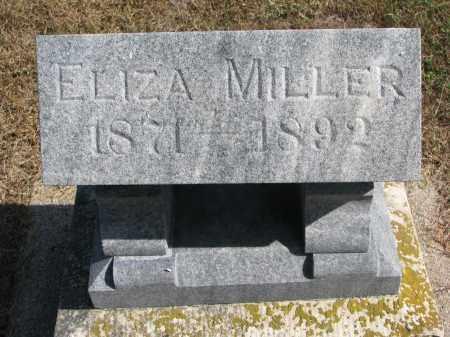 "MILLER, ELIZABETH ""ELIZA"" - Wayne County, Nebraska   ELIZABETH ""ELIZA"" MILLER - Nebraska Gravestone Photos"