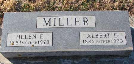 MILLER, ALBERT D. - Wayne County, Nebraska | ALBERT D. MILLER - Nebraska Gravestone Photos