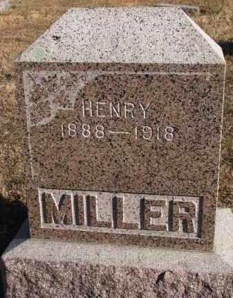 MILLER, HENRY - Wayne County, Nebraska   HENRY MILLER - Nebraska Gravestone Photos