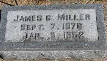 MILLER, JAMES G. - Wayne County, Nebraska | JAMES G. MILLER - Nebraska Gravestone Photos