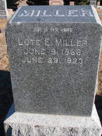 MILLER, LUTE E. - Wayne County, Nebraska | LUTE E. MILLER - Nebraska Gravestone Photos