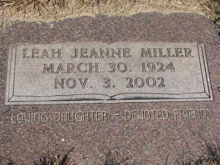 MILLER, LEAH JEANNE - Wayne County, Nebraska | LEAH JEANNE MILLER - Nebraska Gravestone Photos