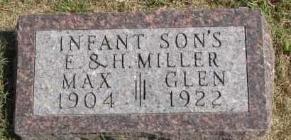 MILLER, MAX - Wayne County, Nebraska   MAX MILLER - Nebraska Gravestone Photos