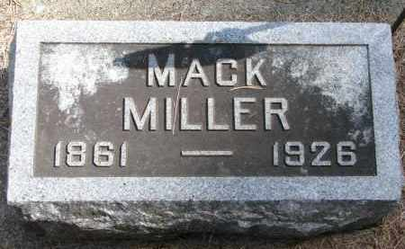 MILLER, MACK - Wayne County, Nebraska   MACK MILLER - Nebraska Gravestone Photos