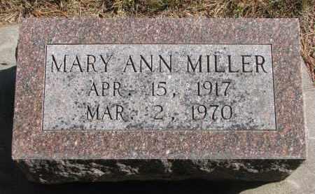 MILLER, MARY ANN - Wayne County, Nebraska   MARY ANN MILLER - Nebraska Gravestone Photos