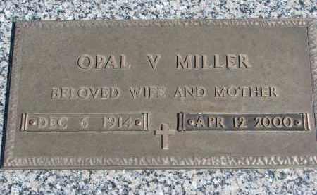 MILLER, OPAL V. - Wayne County, Nebraska   OPAL V. MILLER - Nebraska Gravestone Photos