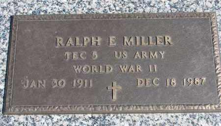 MILLER, RALPH E. (WW II) - Wayne County, Nebraska | RALPH E. (WW II) MILLER - Nebraska Gravestone Photos