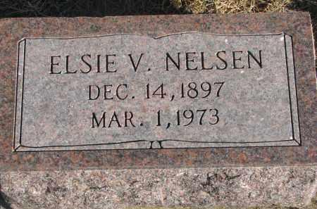 NELSEN, ELSIE V. - Wayne County, Nebraska | ELSIE V. NELSEN - Nebraska Gravestone Photos