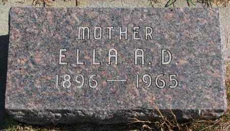 NELSEN, ELLA A.D. - Wayne County, Nebraska | ELLA A.D. NELSEN - Nebraska Gravestone Photos
