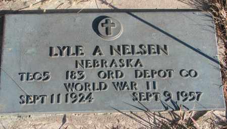 NELSEN, LYLE A. - Wayne County, Nebraska   LYLE A. NELSEN - Nebraska Gravestone Photos