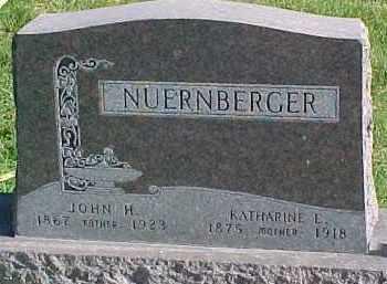 NUERNBERGER, KATHARINE E. - Wayne County, Nebraska | KATHARINE E. NUERNBERGER - Nebraska Gravestone Photos