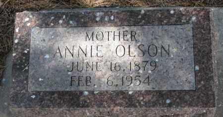 OLSON, ANNIE - Wayne County, Nebraska | ANNIE OLSON - Nebraska Gravestone Photos