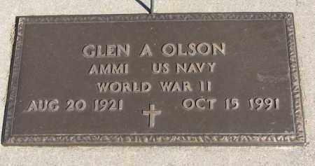 OLSON, GLEN A. - Wayne County, Nebraska | GLEN A. OLSON - Nebraska Gravestone Photos