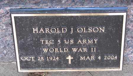 OLSON, HAROLD J. (WW II) - Wayne County, Nebraska   HAROLD J. (WW II) OLSON - Nebraska Gravestone Photos