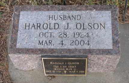 OLSON, HAROLD J. - Wayne County, Nebraska | HAROLD J. OLSON - Nebraska Gravestone Photos