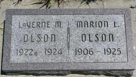 OLSON, MARION L. - Wayne County, Nebraska | MARION L. OLSON - Nebraska Gravestone Photos